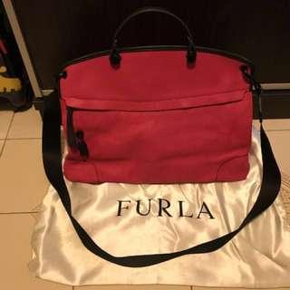 正品 Furla 中Size 螢光粉色