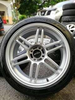 Work fighter 17 inch sportsrim vios tyre 90%. Pergi pasar beli kambing, ini rim you pakai orang panggil you king!!!