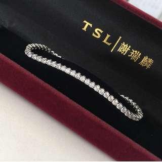 ✨New 4.956 carat diamond bracelet✨ 全新18K白金4卡95份混身鑽石手錬