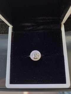 18k White Gold custom made  0.72ct diamond engagement ring