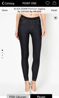 Point One black jegging