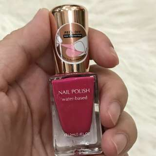 Miniso nail polish peel off water based red rose atau kutek miniso