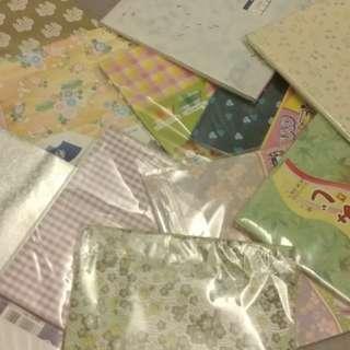 $0.5/1張 福袋 日本手工紙 origami color printed paper 手工材料