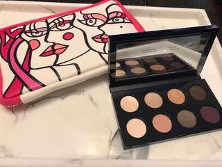Estée Lauder travel kit (Mascara, eye pencil, brush, 8 eyeshadows)