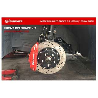 CJ DYNAMICS FRONT BIG BRAKE KIT (SUPER BIG 4-POT, 330) ON MITSUBISHI OUTLANDER 2.4