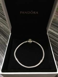 正品 Pandora  純銀 Silver ALE 925 閃石 14k金 gold 17cm 手鈪 手鐲 手鍊 手鏈 charm links