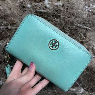 Tory Burch  wallet mint 湖水綠 薄荷綠