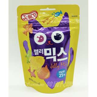 🚚 現貨+預購 韓國 Jellico 25% 水果軟糖 綜合水果軟糖 貓咪 企鵝 海星 魚 飛機 海底世界 80g