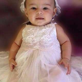 White Dedication/Baptismal dress for baby