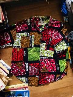 Travel printed shortsleeves shirt
