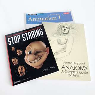 3x Books on Anatomy, Modelling and Animation