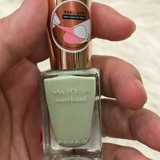 Miniso nail polish water based peel off 07 mint green atau kutek miniso