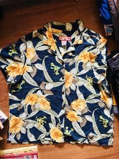 Floral printed Cuban shortsleeves shirt