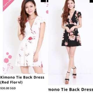 Instocks | bn carrislabelle kimono tie back dress