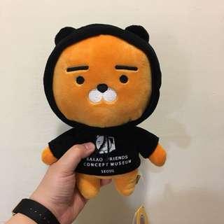 全新 現貨 韓國 kakao friends 萊恩 獅子 黑色帽踢 娃娃 玩偶 絨毛玩具 送禮首選