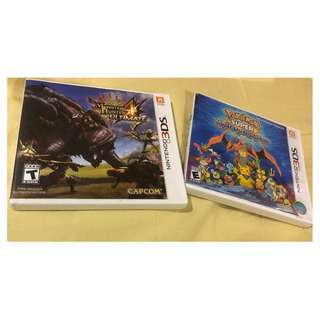 Nintendo 3DS Monster Hunter 4 Ultimate and Pokemon Super Mystery Dungeon