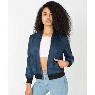 BNWoT AMERICAN APPAREL DARK BLUE BOMBER JACKET