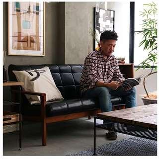 【日式復古 藝術沙發 ,免組裝,即收即坐】