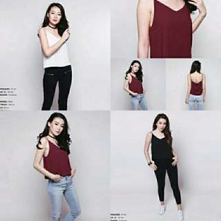 Camisole tank Bahan twiscone fit to L