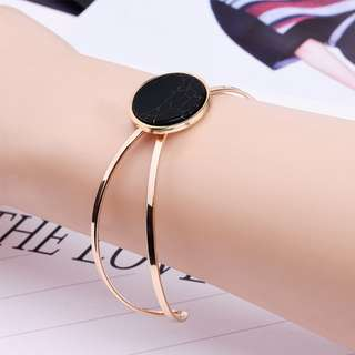 Gelang korea round natural marble bangle bracelet