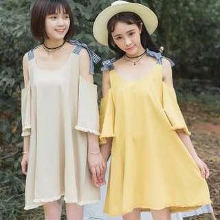 氣質緞帶蝴蝶結洋裝