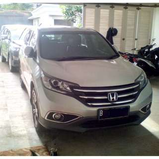 Honda CRV Silver 2.4 AT NAVY (Prestige) 2013. Low KM,Mulus,Terawat,Service Record Honda. Like NEW.