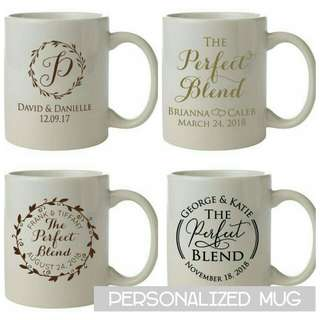 Personalized white mug souvenir idea