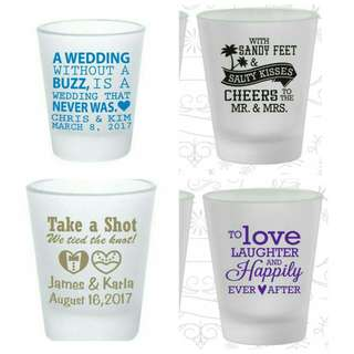 Personalized shot glass souvenir