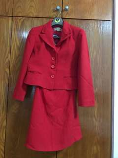 Red King brand skirt suit