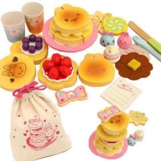BN Usamomo Rabbit Wooden Crepe Pancake Stack Toy Play Set