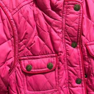 Pink Padded Belted Coat