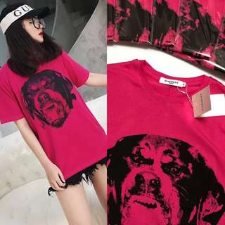 💎Givenchy Unisex Rottweiler Cotton T Shirt💎