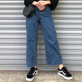 高腰顯瘦直筒寬褲
