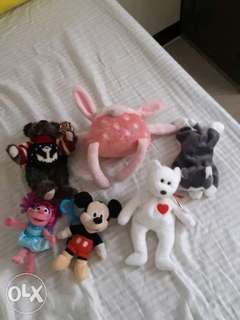 Assorted Stuffed Toys 6 pcs.