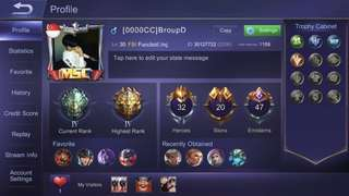Selling mobile legend account IOS