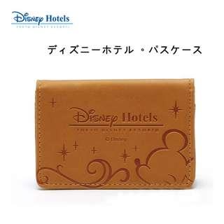 日本限定 Disney Hotels 迪士尼飯店 特製 名片夾 證件夾 悠遊卡夾 卡片夾 卡套 米奇 米老鼠