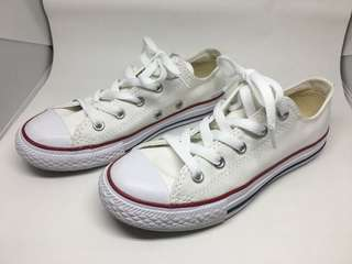 Converse White Low Top All Star Sneakers Size 1