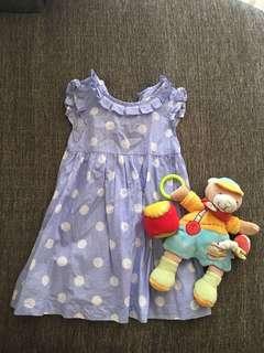 Polka Dots Toddler Dress #Bajet20