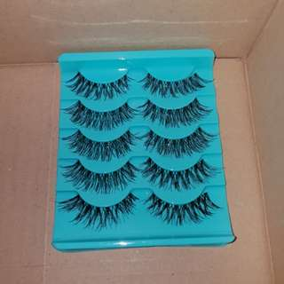 Instock  1 Set (5 Pairs) Crisscross Black False / Fake Eyelashes