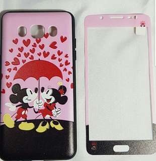 Samsung J5 2016 2-in-1 Case (Tempered and Back Case)