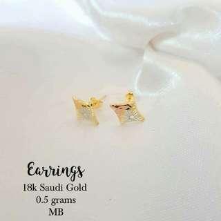 Sale!!! 18k saudi gold earring