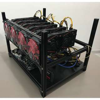 Mining Rig RX570 8GB x6 (OPTIMIZED! 187mh/s!! / Ethereum))