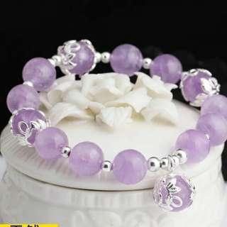 紫水晶手鏈 925純銀