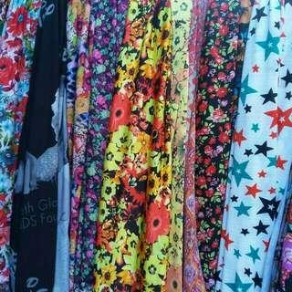 Printed Spandex tela fabric per yard