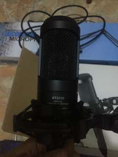 Jual Mic Condenser AudioTechnica AT2035(good condition)