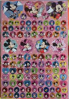 Disney Mickey / Minnie Mouse sticker sheets