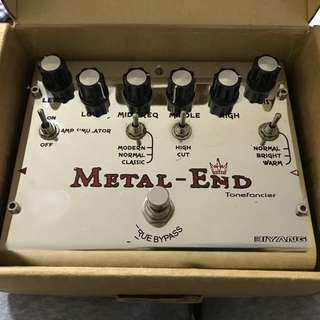 Metal-end distortion pedal