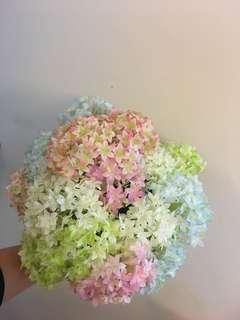 小繡球花束