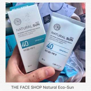 🦊 50ml No Shine Hydrating Sun Cream SPF40 PA ++