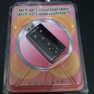 USB Sound Card 3D Stereo 7.1